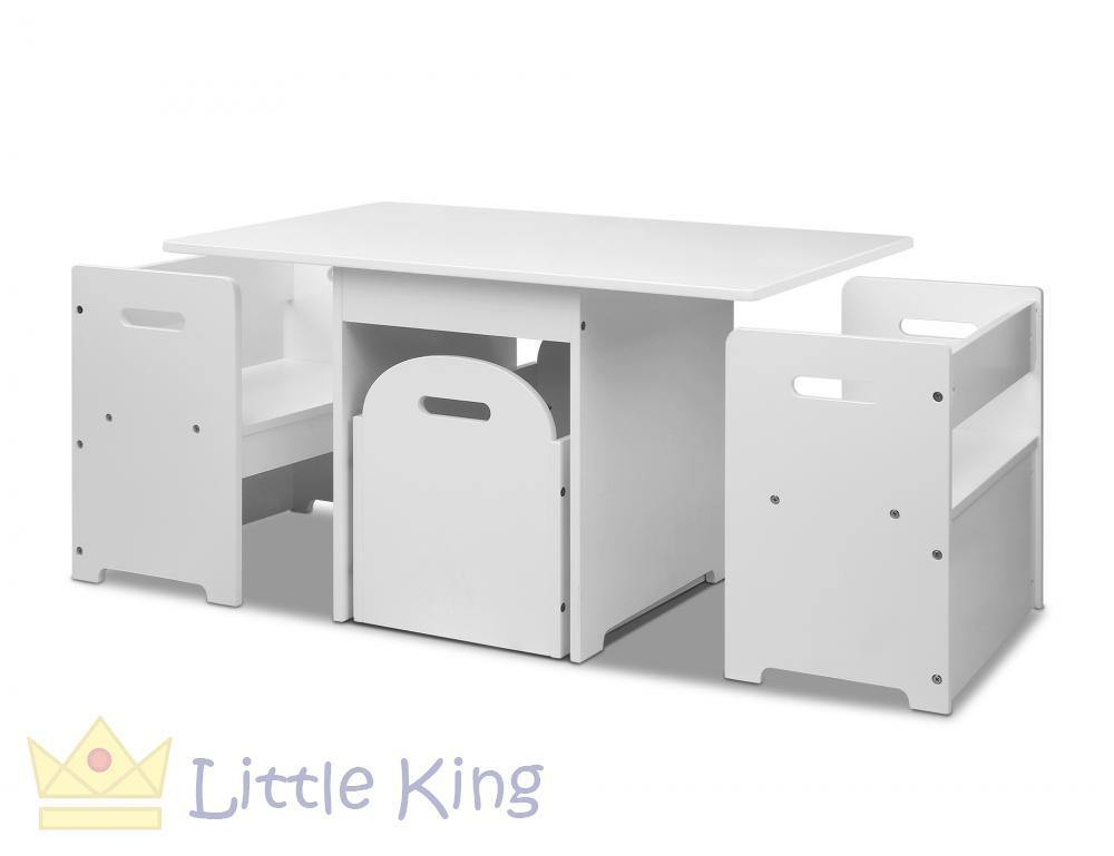 Kids Table and Chair Set White