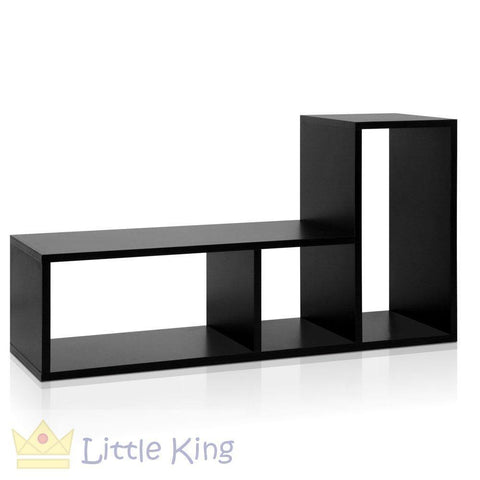 DIY L Shaped Display Shelf - Black