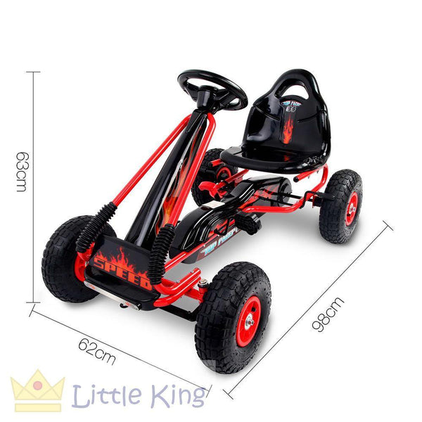 Kids Pedal Go Kart - Red