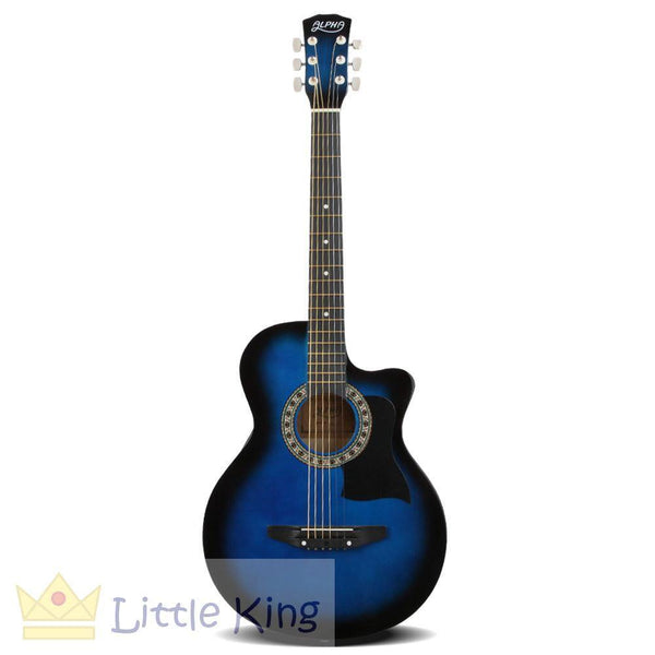 38 Inch Wooden Folk Acoustic Guitar - Blue