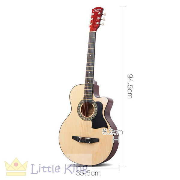 38 Inch Wooden Folk Acoustic Guitar - Natural Wood