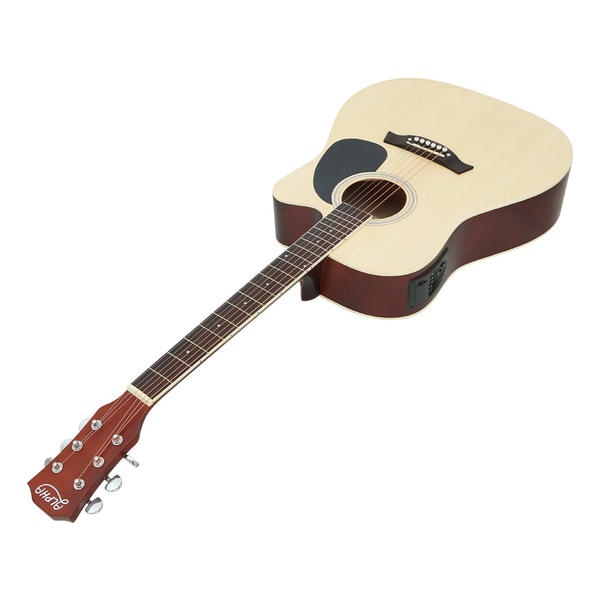 Alpha 41 Inch Electric Acoustic Guitar Wooden Classical with Pickup Capo Tuner Bass Natural
