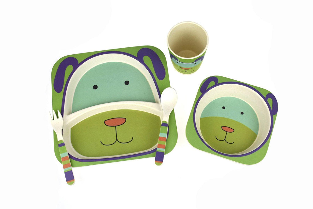 BambooZoo Kids Dinnerware 5 Pcs - Dog
