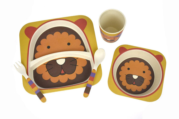 BambooZoo Kids Dinnerware 5 Pcs - Lion