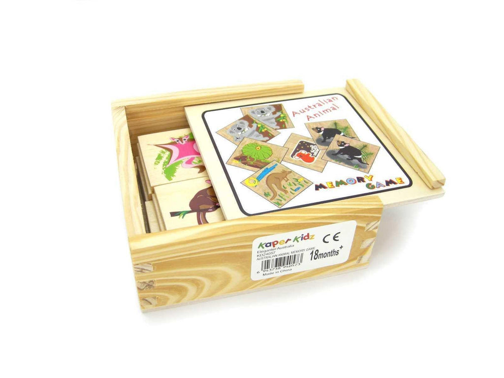 Wooden Memory Game - Australian Animals