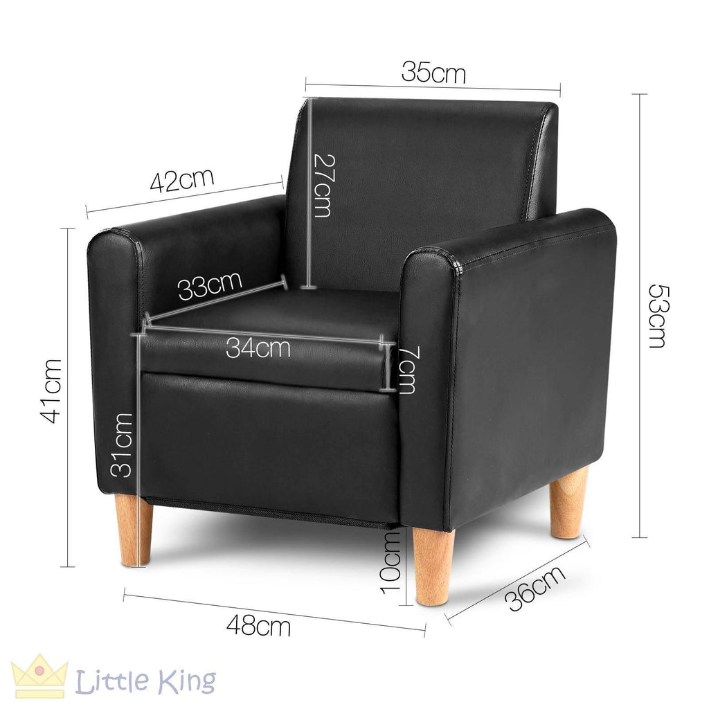 ... Single Couch For Kids   Black ...