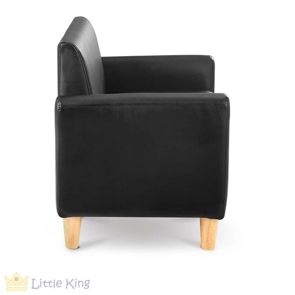 Single Couch for Kids - Black