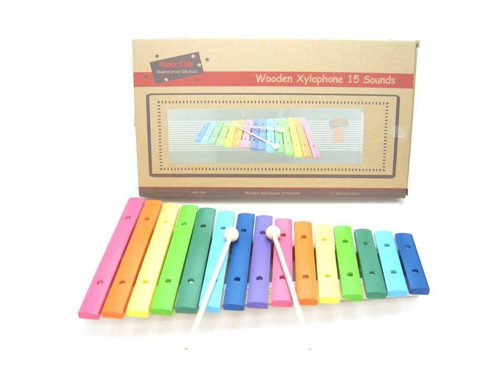 Wooden Color Xylophone 15 Sounds