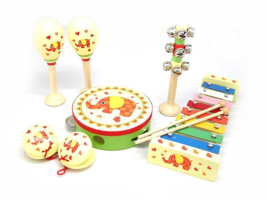 Wooden Musical Set - 7 Pcs Elephant