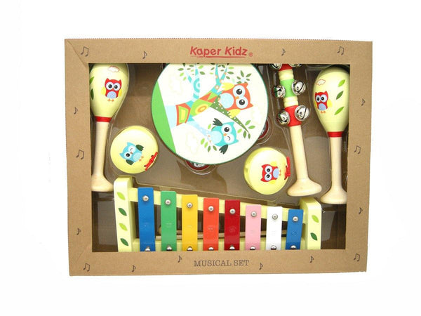 Wooden Musical Set - 7 Pcs Owls