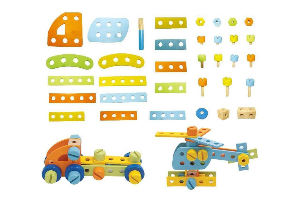 Construction Set 51 Pcs Round by Kaper Kidz