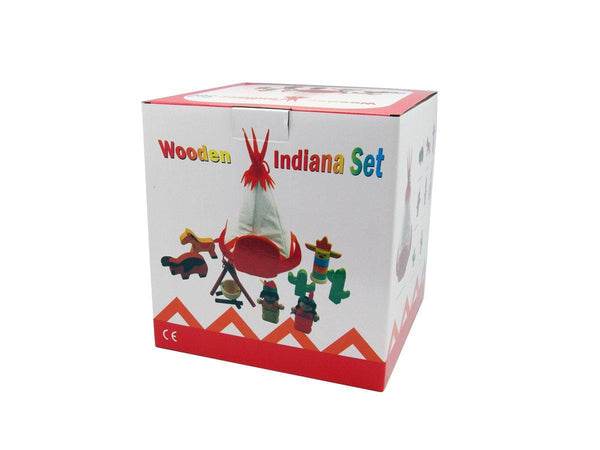 Wooden Indian Playset by Kaper Kidz