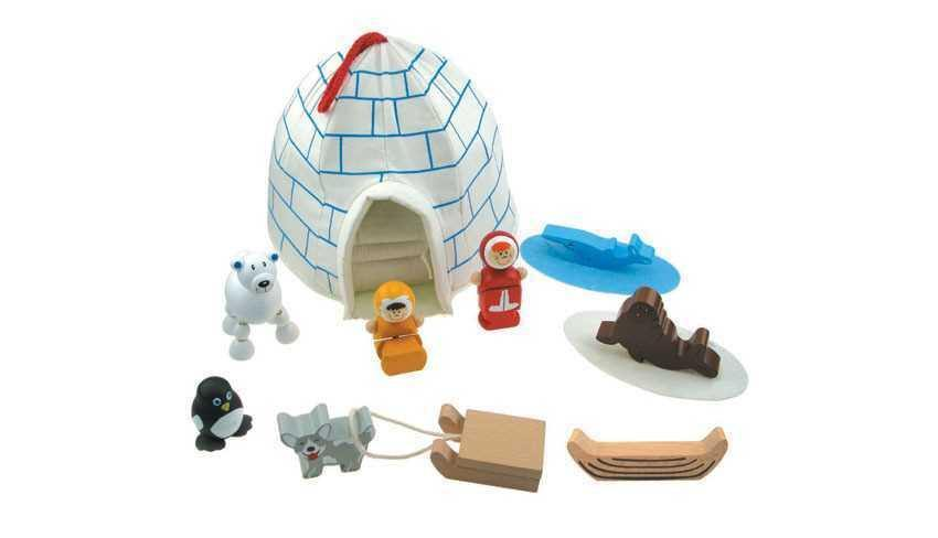 Wooden Eskimo Playset by Kaper Kidz