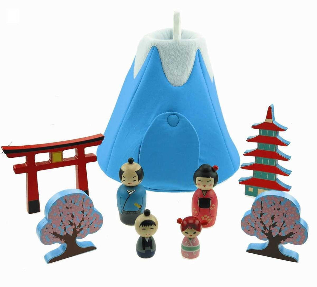 Wooden Japanese Playset by Kaper Kidz