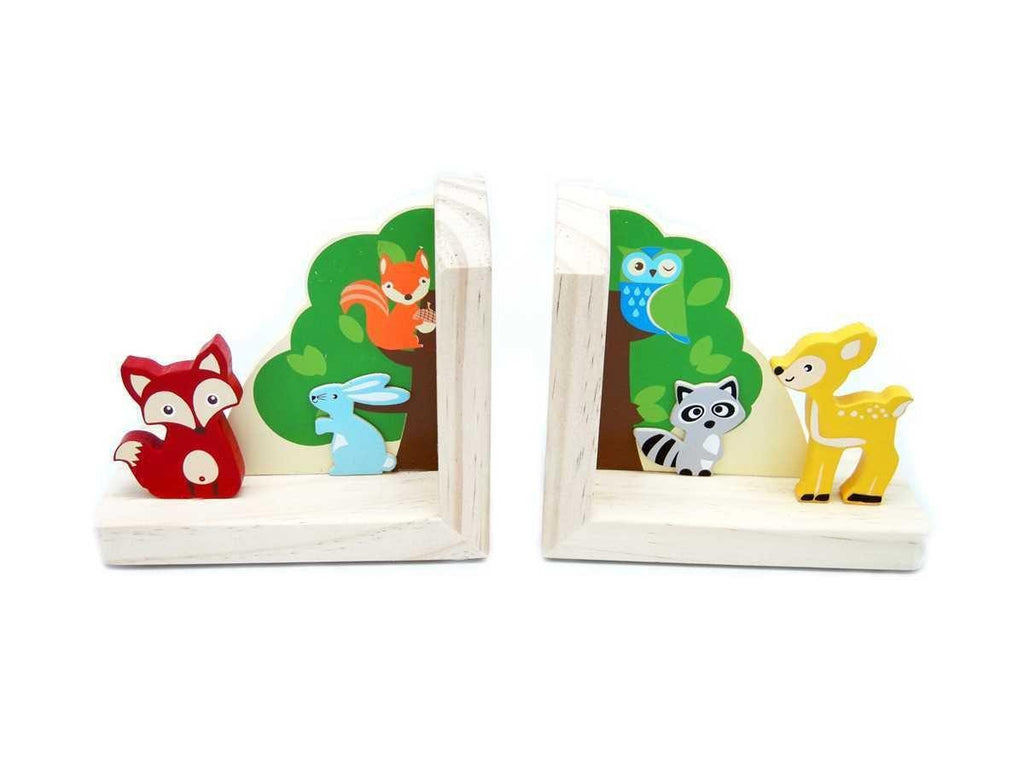 Wooden Forest Friends Bookends by Kaper Kidz