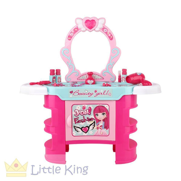 Kids Makeup Desk Play Set - Pink