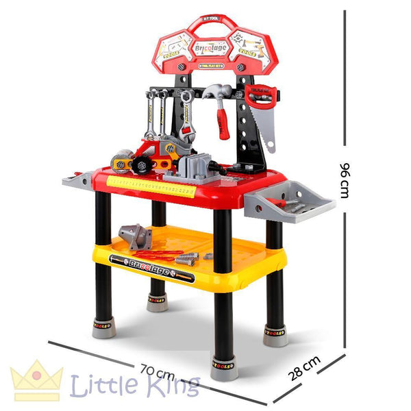 Kids Workbench Play Set - Red