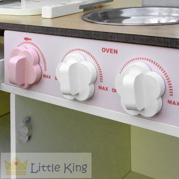 Wooden Kitchen Play Set - Off White