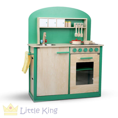 Wooden Kitchen Play Set 8 Piece - Green