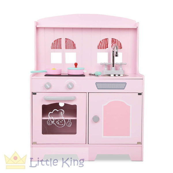Kids Wooden Kitchen Playset 2 - Pink
