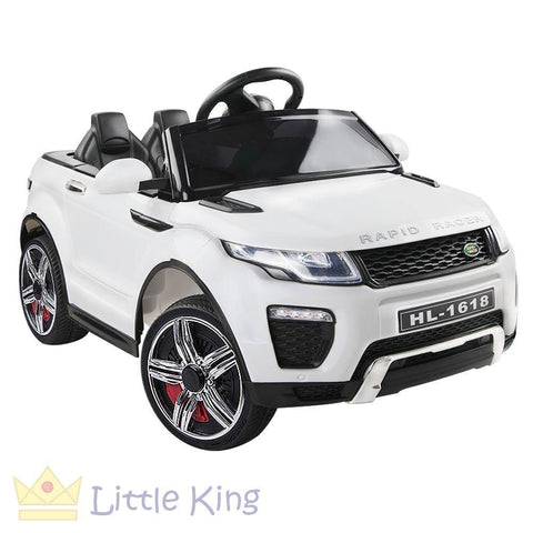 Kids Ride On Car - Evoque White