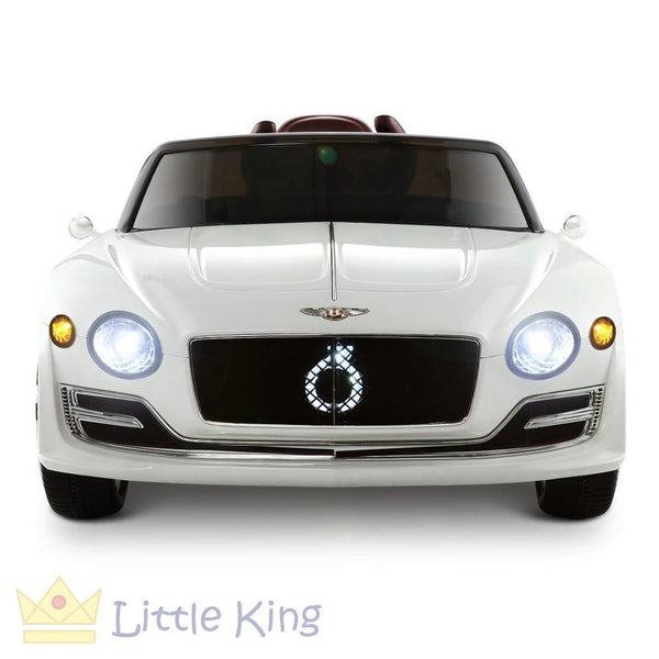 Rigo Kids Ride On Car - White Bentley Style XP12
