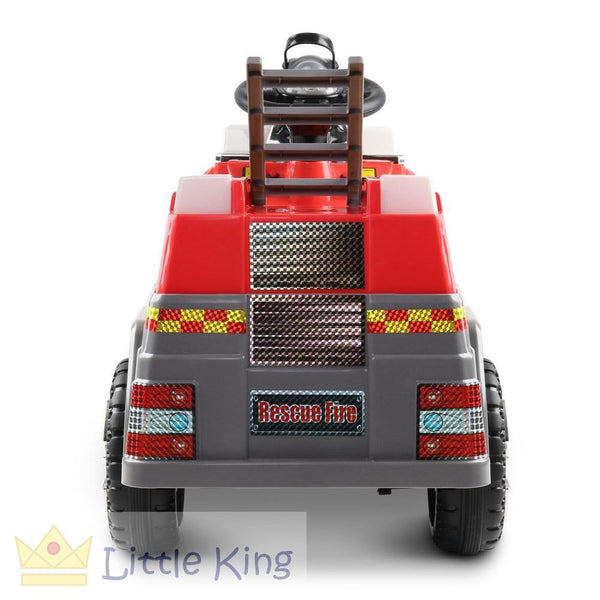 Fire Truck Electric Toy Car - Red & Grey