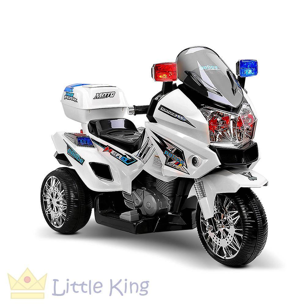 Kids Ride on Police Motorbike – White