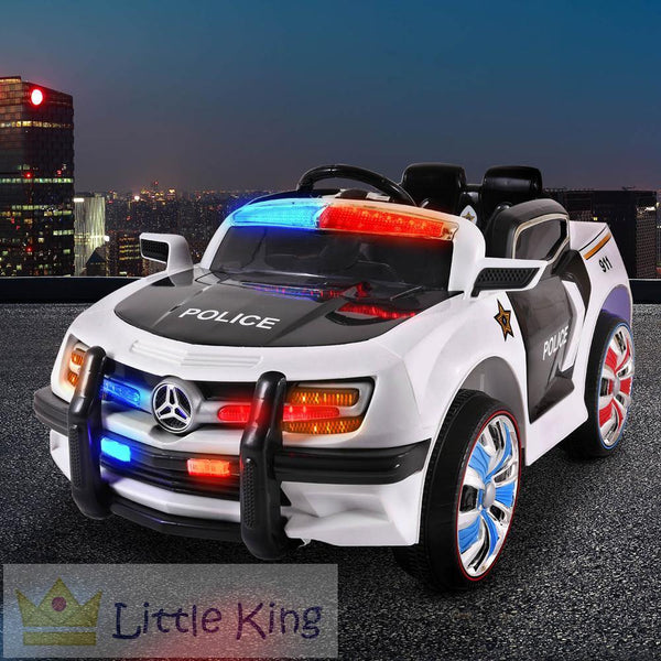 Kids Ride on Car - Police White