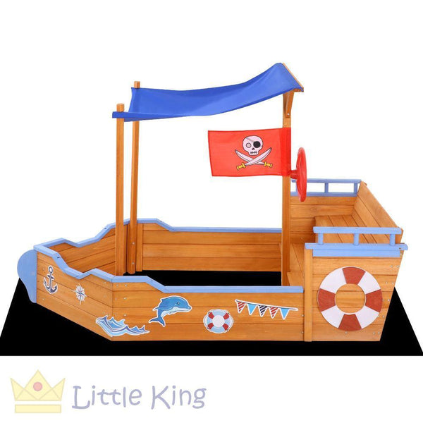 Boat Sand Pit With Canopy