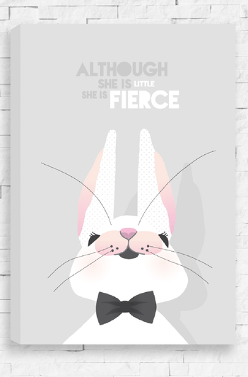 Little & Fierce - Canvas