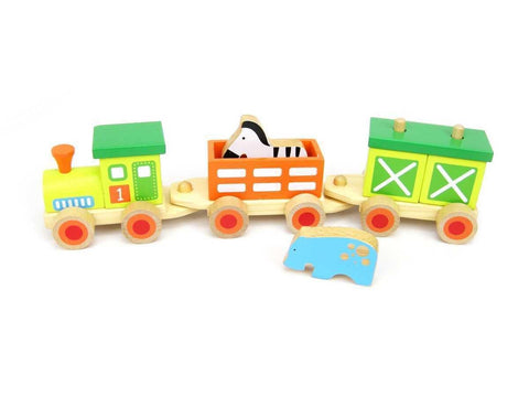 Wooden Animal Train by Tooky Toy