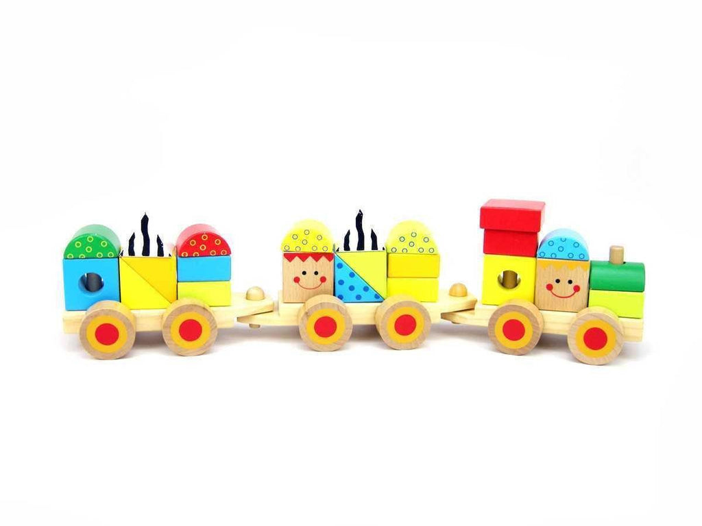 Wooden Block Train by Tooky Toy