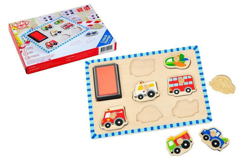 Stamp Puzzle Vehicles by Tooky Toy