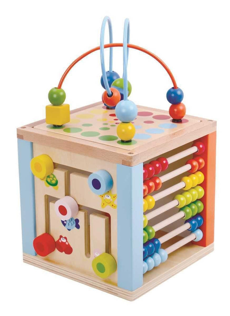 Wooden 5 In 1 Play Cube Centre by Tooky Toy