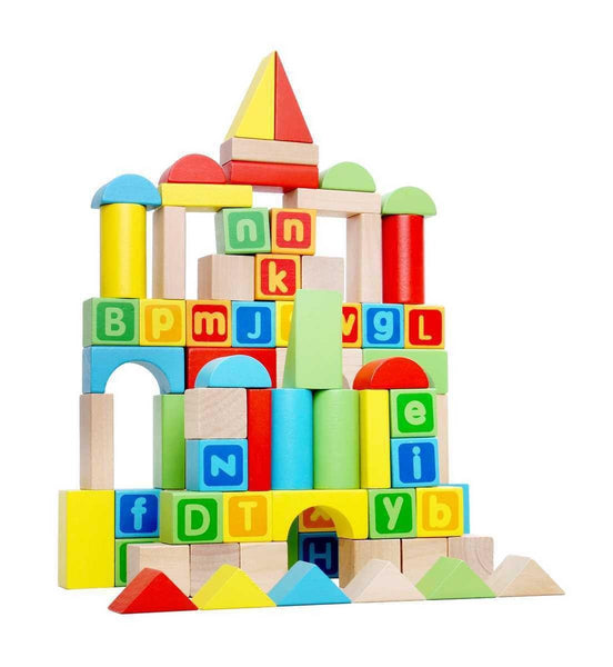 Wooden Blocks - 80 Pcs by Tooky Toy