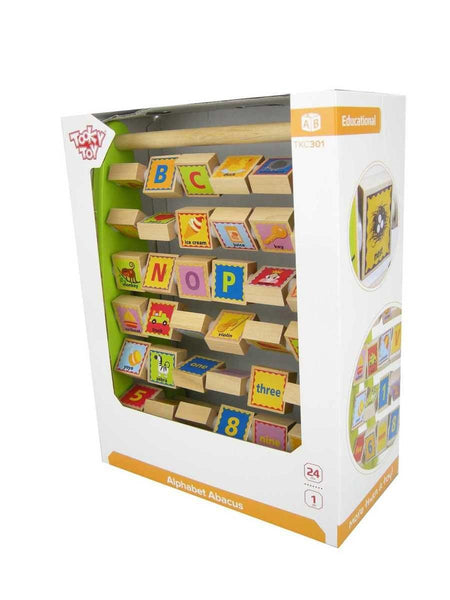 Wooden Alphabet Abacus by Tooky Toy