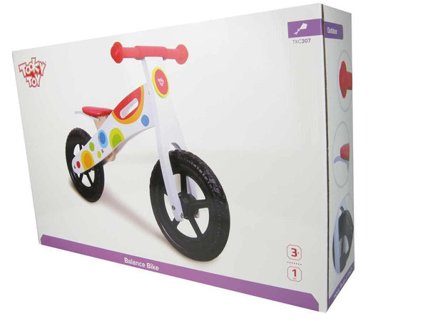 Wooden Balance Bike by Tooky Toy