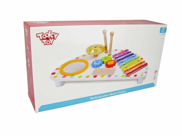 Wooden Multi Function Music Centre by Tooky Toy