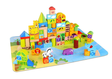 Wooden Jungle Block - 135 Pcs