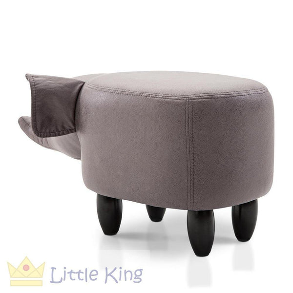 Kids Animal Stool Grey