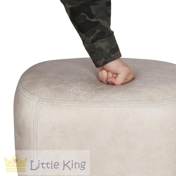 Kids Hippo Animal Stool Beige