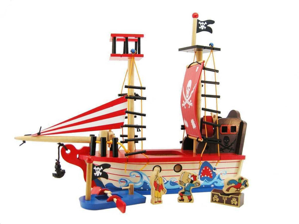 Wooden Pirate Boat