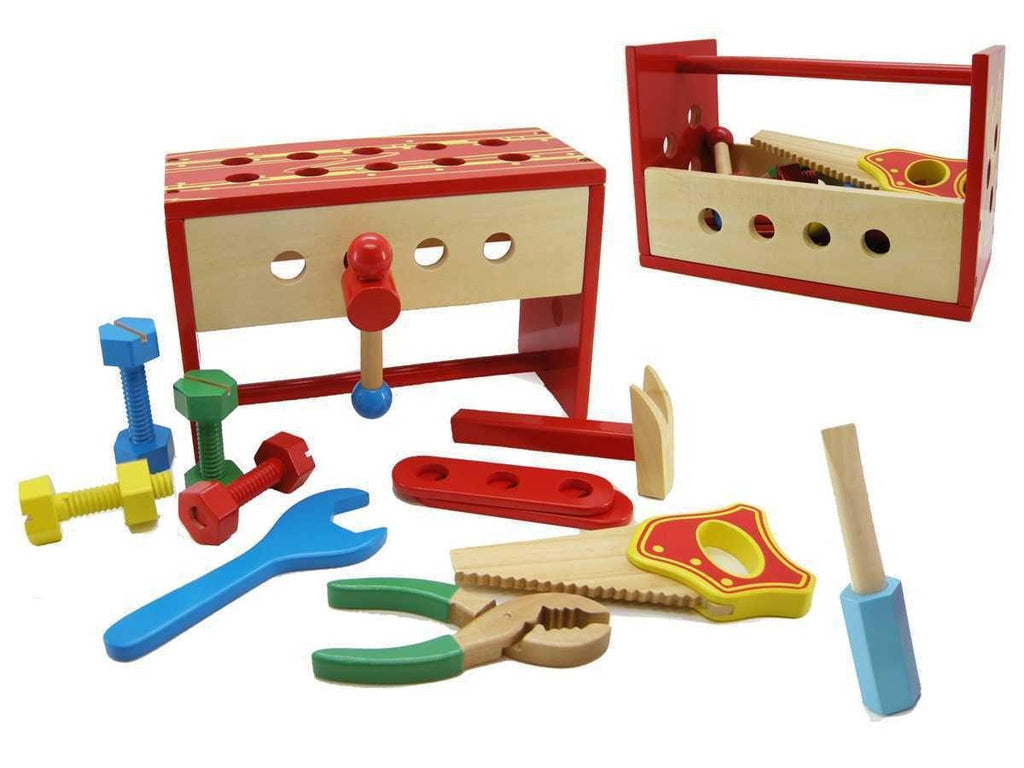 Wooden Tool Box Work Bench by Kaper Kidz