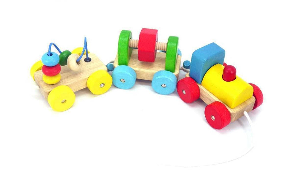 Wooden Pull A Toot Toot Train