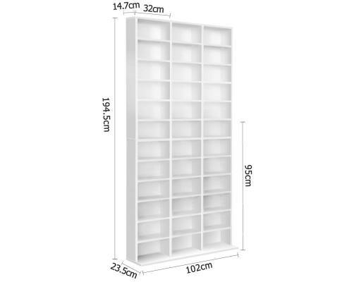 Artiss Adjustable DVD / Book Storage Shelf White