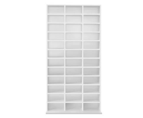 Adjustable DVD / Book Storage Shelf White