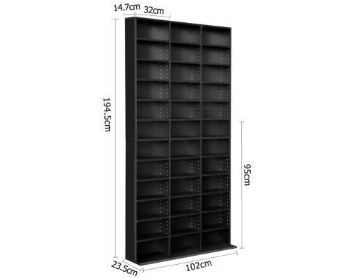 Adjustable DVD / Book Storage Shelf Black