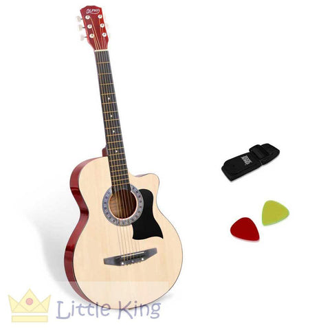 38 Inch Wooden Acoustic Guitar - Natural