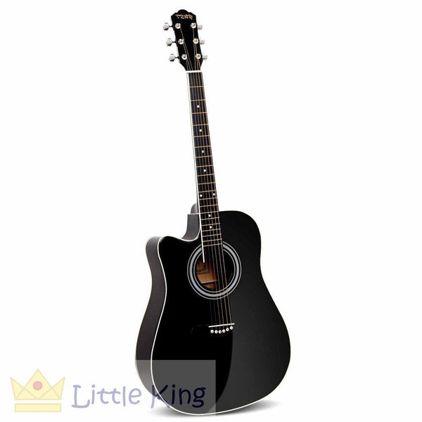 "41"" 5- Band EQ Electric Acoustic Guitar - Black"